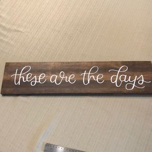 Handmade and crafted sign